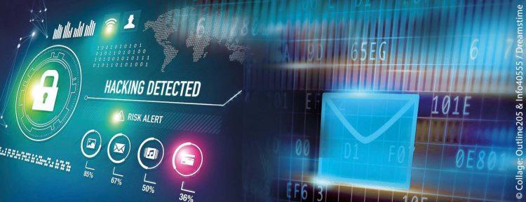 Symbolbild für die Cybersicherheit im Bundestag