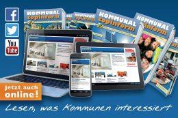 Kommunalmagazin KOMMUNALtopinform. Lesen, was Kommunen interessiert.