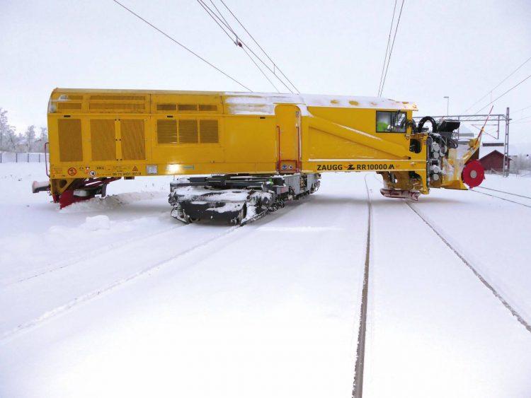 Eine Schneefrässchleuder für der Erzbahn