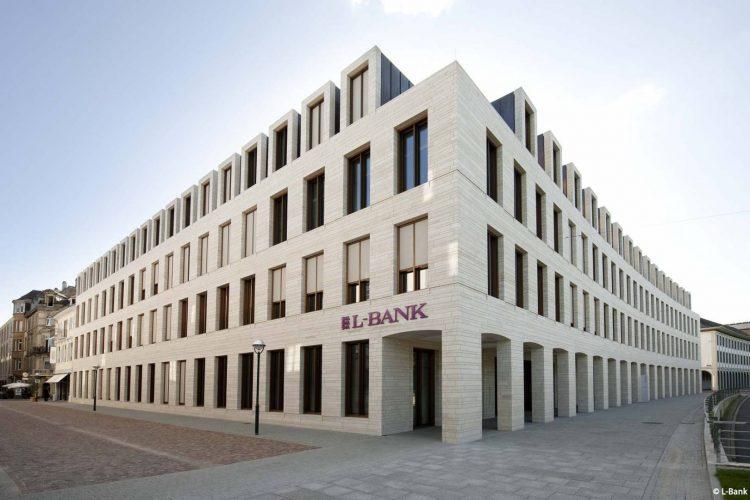Das Gebäude der L-Bank in Karlsruhe