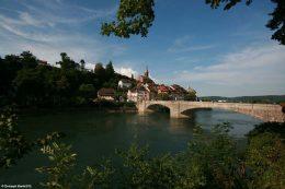 Das deutsche Laufenburg von der Schweizer Seite aus gesehen.