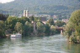 Blick auf Bad Säckingen am Rhein.