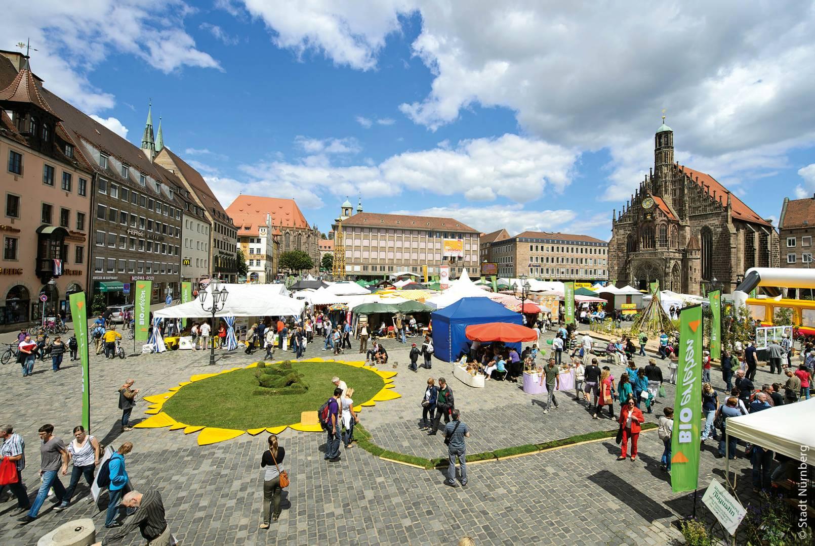 """Veranstaltung """"Bio Erleben"""" auf dem Hauptmarkt"""