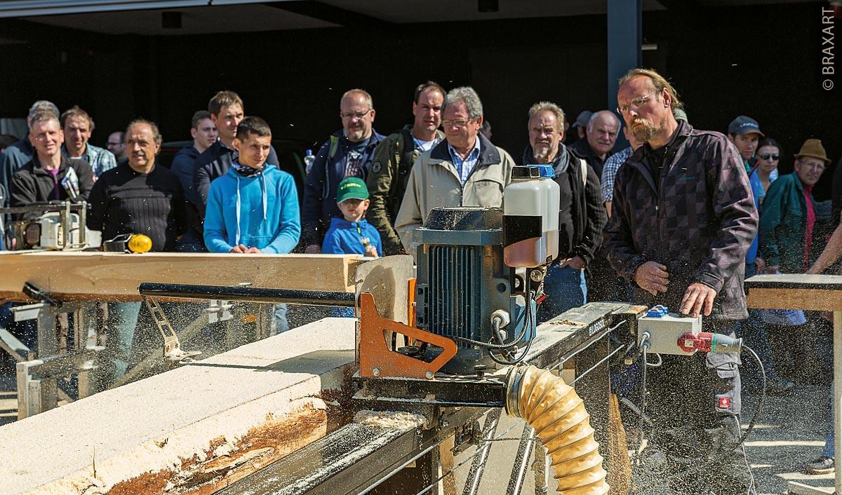 Holzarbeiten auf der Forst Live in Offenburg