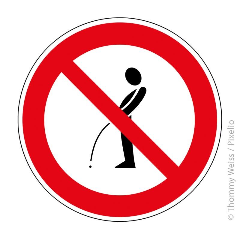 Wildpinkler Schild pinkeln verboten