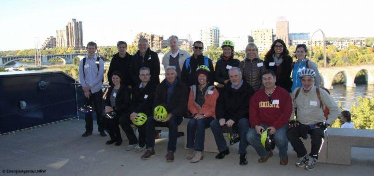 NRW-Delegation mit Partnern in Minneapolis