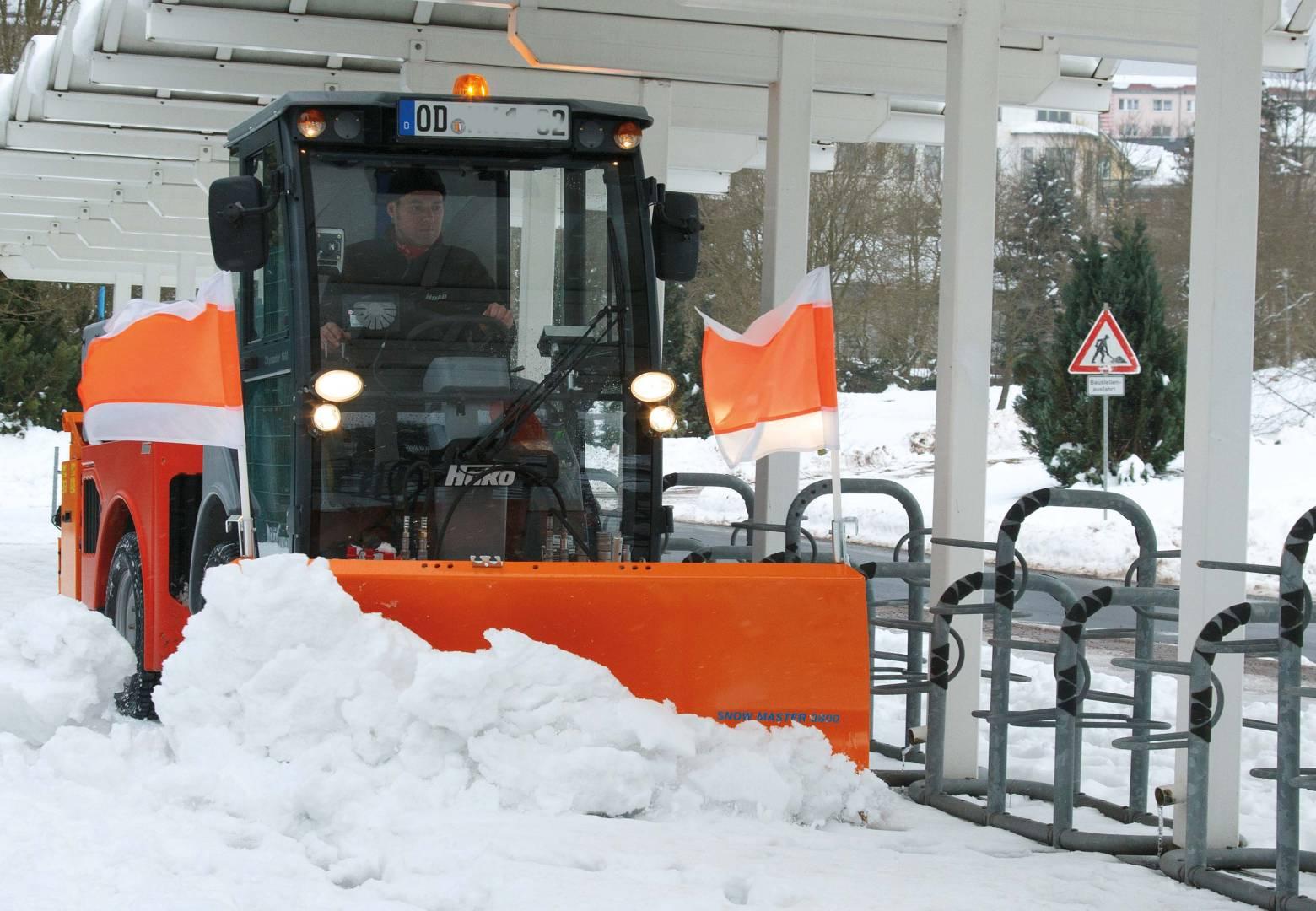 Hako Citymaster 1600 im Winterdiensteinsatz