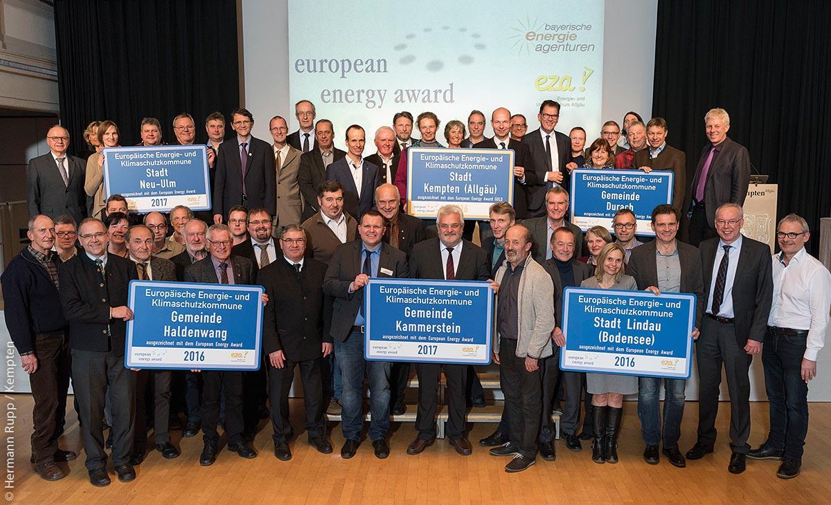 Der European Energy Award wurde an sechs Gemeinden und Städte vergeben