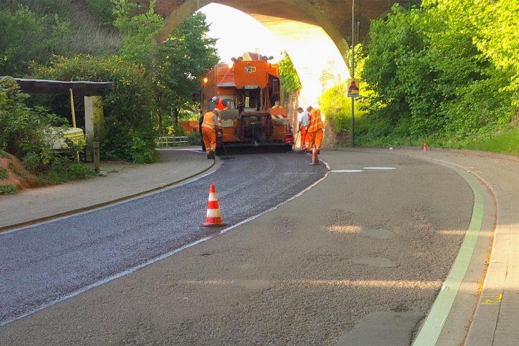 Verbindungsstraße in Ingolstadt vor der Sanierung
