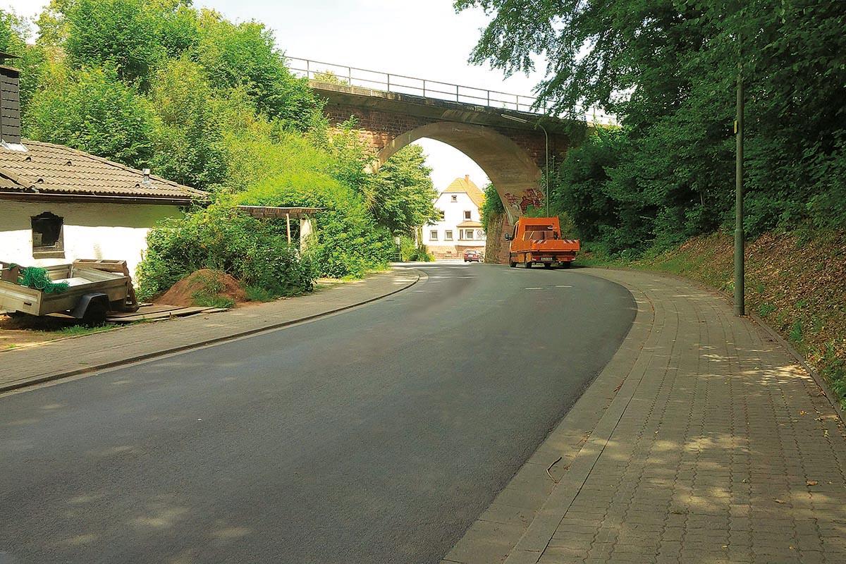 Verbindungsstraße in Ingolstadt nach der Sanierung