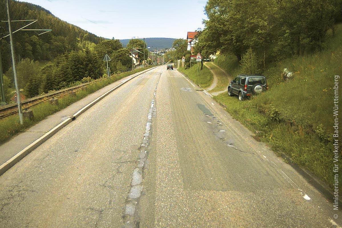 Die B 462 vor Baiersbronn, nordwestlich von Freudenstadt