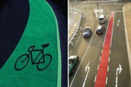 Fahrbahnmarkierungen, die nachts leuchten, machen das Unterwegssein abends oder früh morgens – besonders für Radfahrer – viel sicherer.