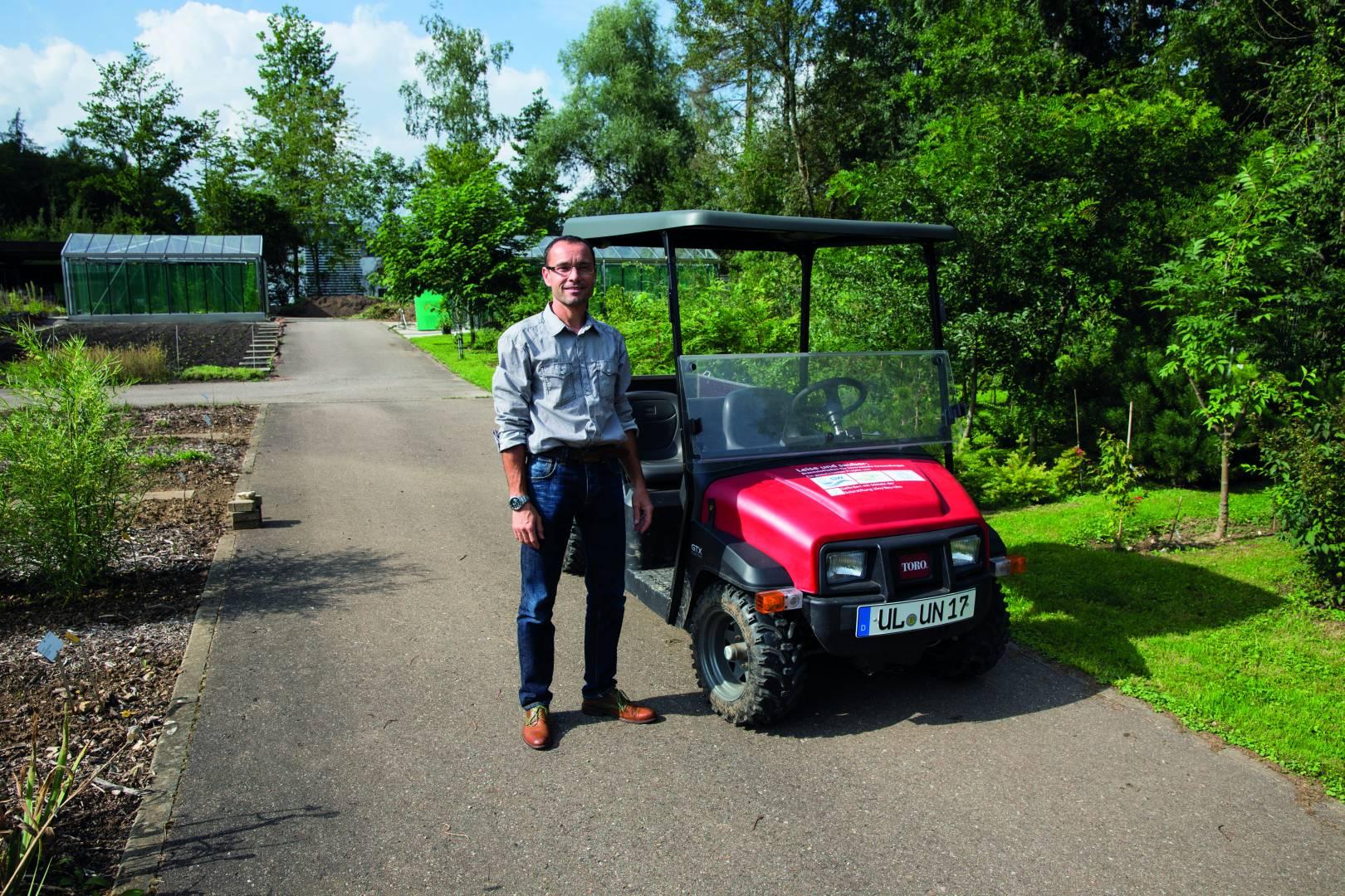 Peter Zindl - Technischer Leiter des Botanischen Gartens