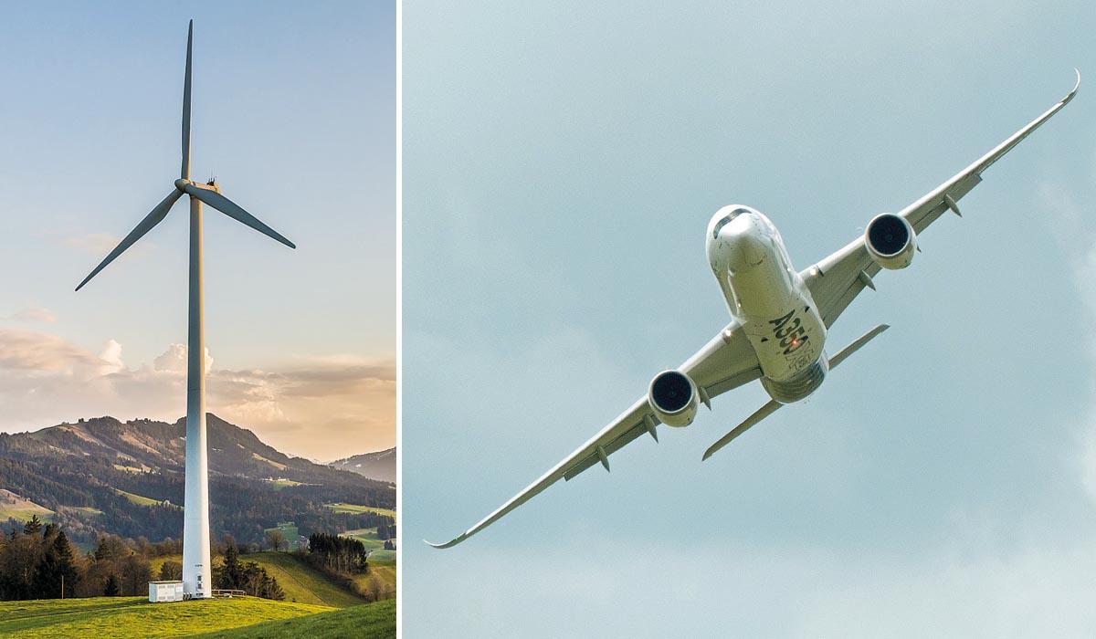 Ohne Composites kommt kaum eine Windenergieanlage aus und auch in der Luftfahrt finden faserverstärkte Kunststoffe (FVK) ihre Anwendung