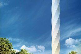 Einer der ersten Entwürfe des Testturms bei Rottweil
