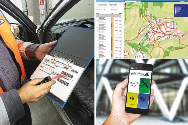 AIDA mobile Erfassung Zeiterfassung Barcode