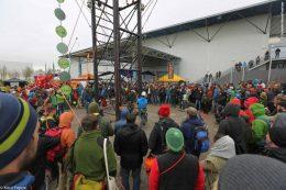 Baumpflegetage Präsentation am Kletterturm