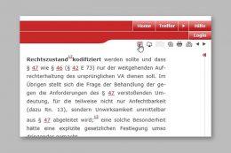 Mit einem Klick auf das Dokumentensymbol lassen sich die Treffer in der Leseansicht bequem am Bildschirm sichten.