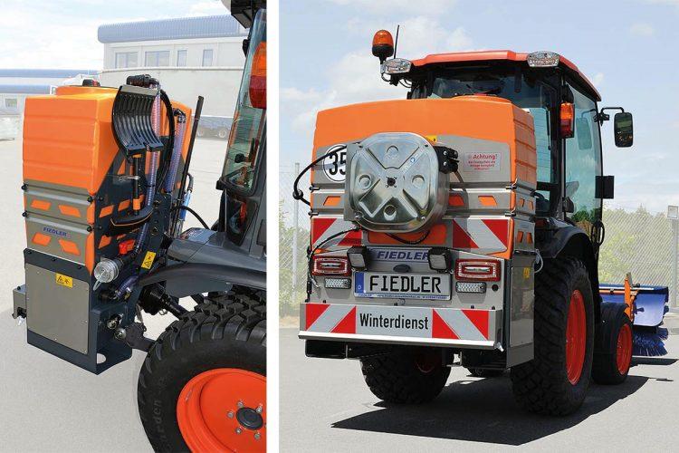 Fieder Solesprühanlage FSSAZ 325 mit 325l Tankvolumen und Halterung für Schneeräumgeräte