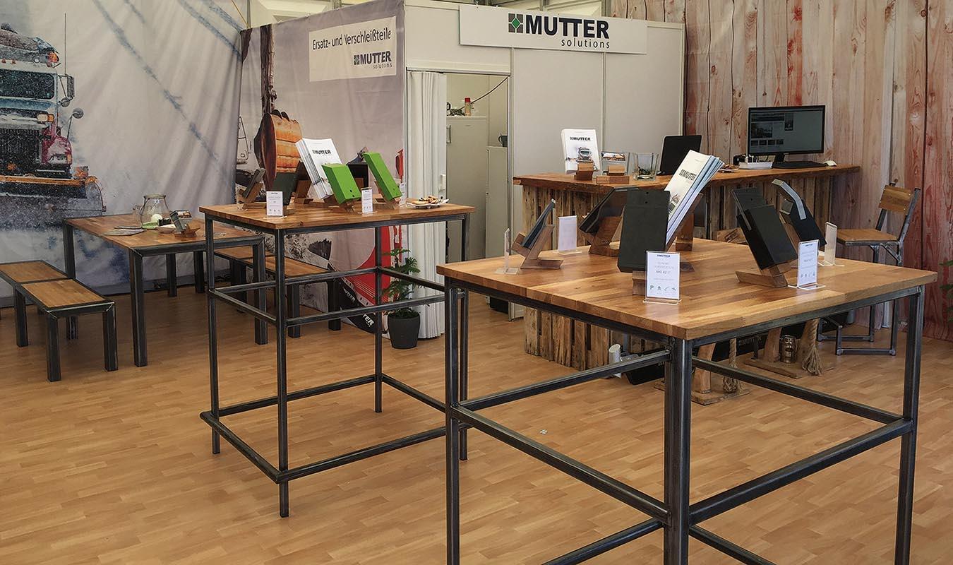 Der Stand von Mutter Solutions auf der Demopark 2017 in Eisenach