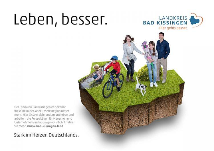 Plakatbild von der Standortkampagene in Bad Kissingen