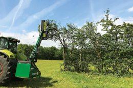 GreenTec Neues Schneid- und Mulchkonzept für die Heckenpflege mit Astschneider