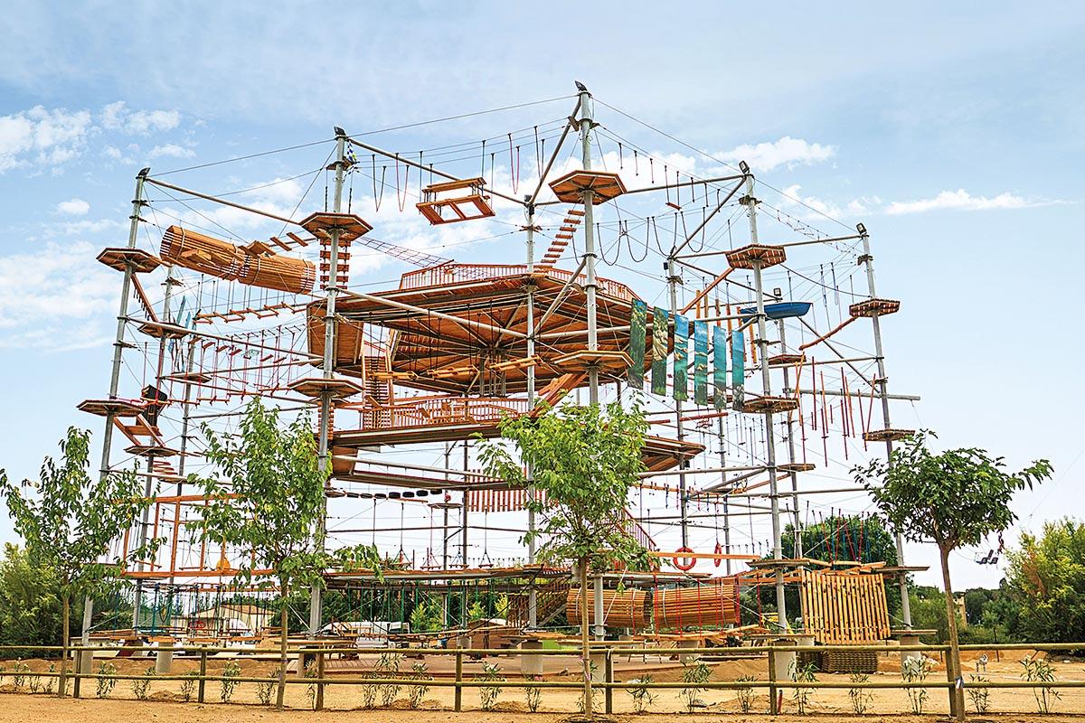 Hochseilgarten Platja d'Aro in Spanien