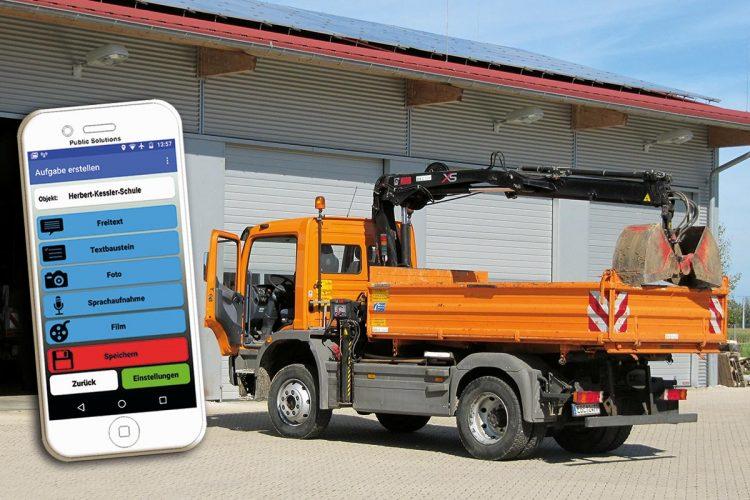 Alle wichtigen Bearbeitungs- und Eingabeschritte sind in der App auf einen Blick zu sehen, die mit den jeweiligen GPS-Koordinaten verknüpft werden.