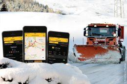 Mit der RWIS-App von Boschung werden mobil und schnell Straßenwetterstationen und Einsatzdaten von Fahrzeugen live auf einer interaktiven Google-Karte angezeigt.