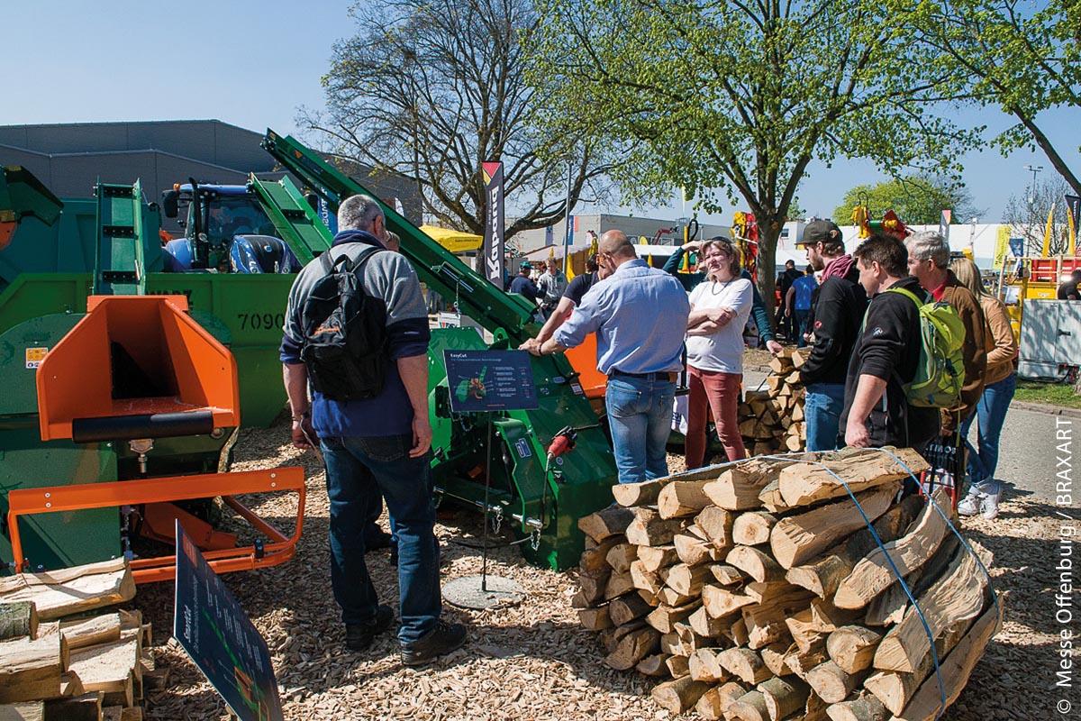 Messe Forst live auf dem Messegelände Offenburg: Maschinenvorführung