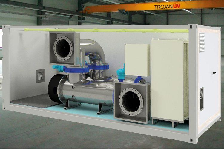 """""""Notfall""""-Containersystem bei Ausfällen in der Trinkwasserversorgung: Das Innenleben des Containers"""