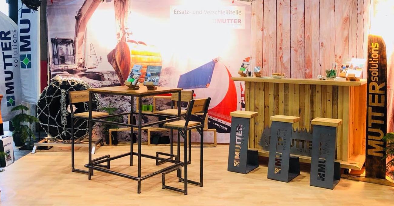 Aufgebauter Messestand von MUTTER solutions