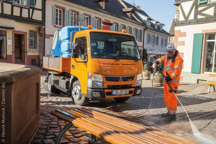 FUSO Canter TF1 Upgrade 6S15 Sommerdienst orange