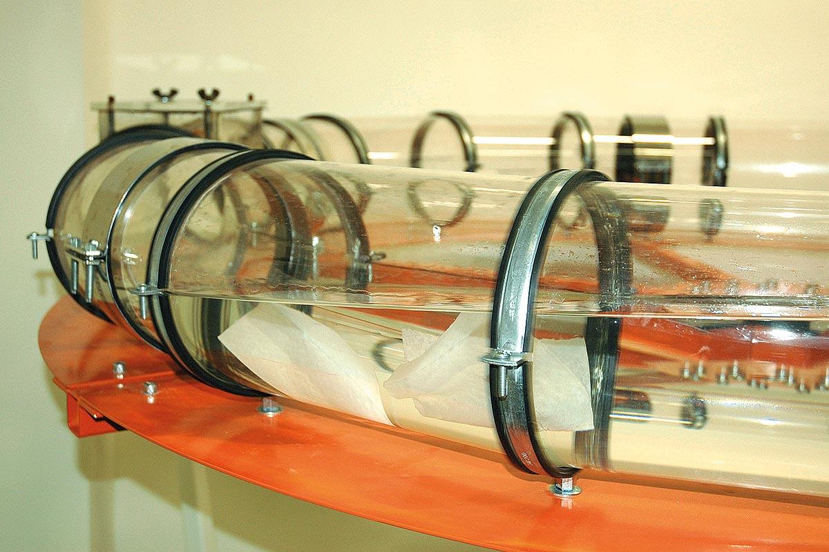 Gerät zur Prüfung der Zerfallskinetik von Feuchttüchern