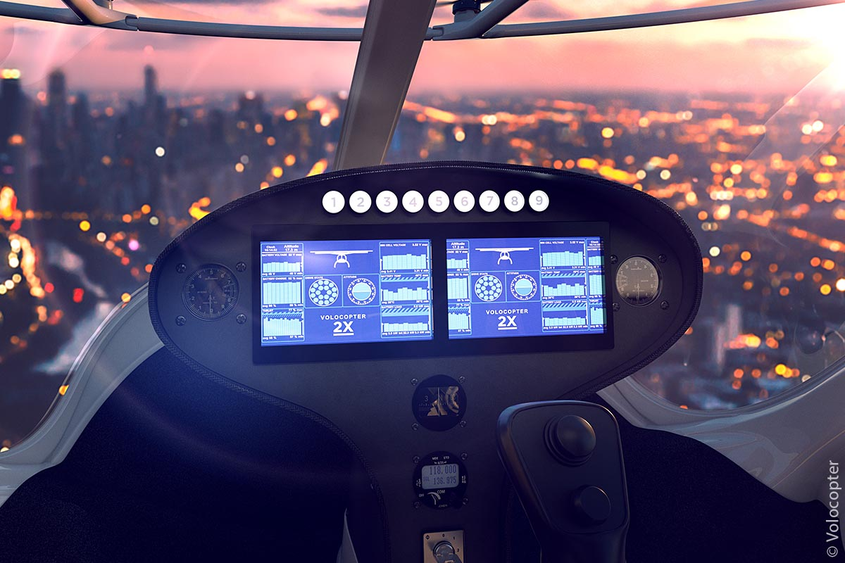 Cockpit eines Volocopters