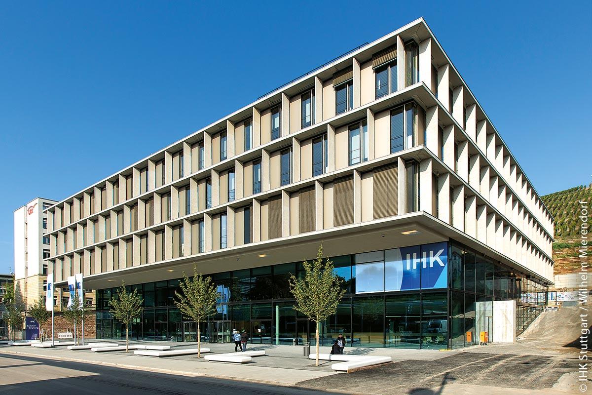 Das Gebäude der IHK Region Stuttgart