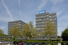 Das Hauptgebäude der Wuppertaler Stadtwerke