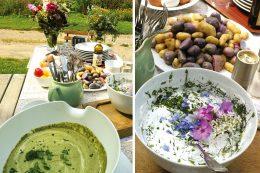 Essbare Staudenmischungen und Kräuter sind beispielsweise für grüne Soße und Salate geeignet.