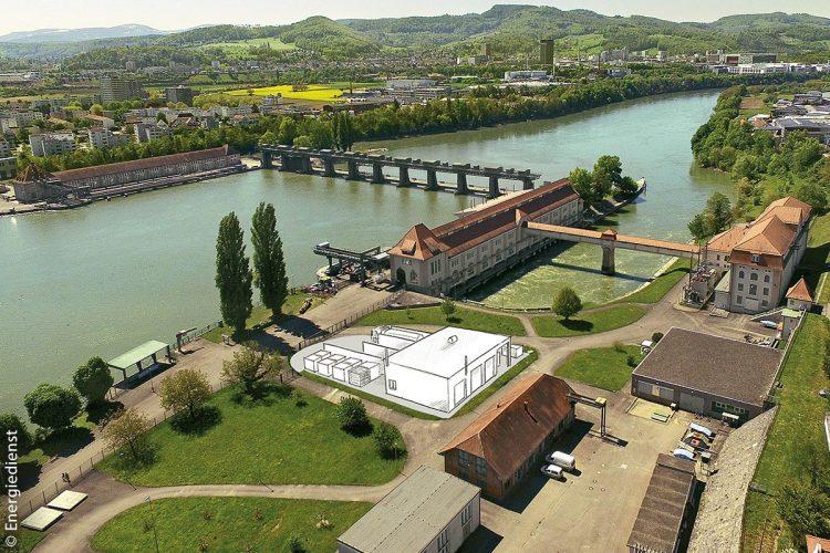 Die geplante Power-to-Gas-Anlage am Wasserkraftwerk Wyhlen (Landkreis Lörrach) soll voraussichtlich Anfang 2019 den regulären Betrieb aufnehmen. Am 15. November 2018 findet die Einweihung statt.