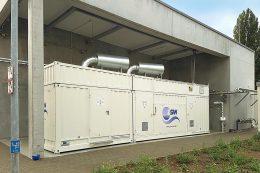 Die im August 2018 in Wyhlen eingebaute Elektrolyse-Forschungsanlage (F&E-Anlage) des Zentrums für Sonnenenergie- und Wasserstoff-Forschung Baden-Württemberg (ZSW)