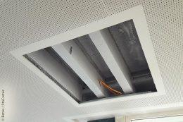 An der über 50 Jahre alten Bausubstanz des Balinger Gymnasiums war eine umfassende Sanierung und Modernisierung unumgänglich. Die nach kurzer Zeit fertig sanierten Decken erfüllten nun wieder die strengeren Sicherheitsanforderungen.