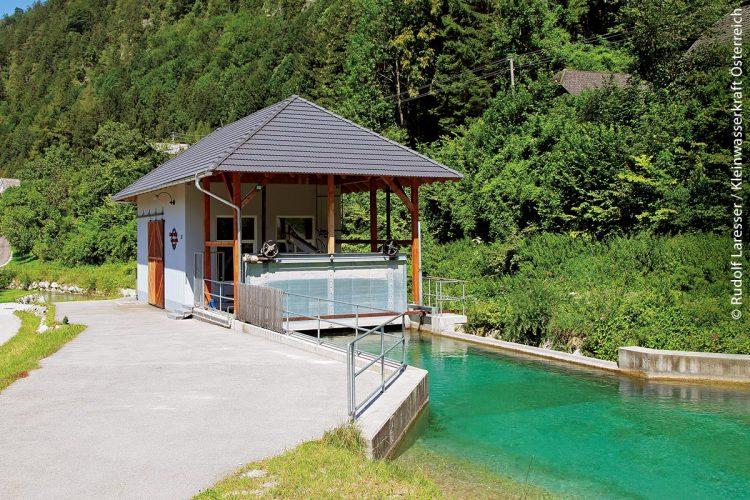 Kleinwasserkraftwerk an der Alm in Oberösterreich