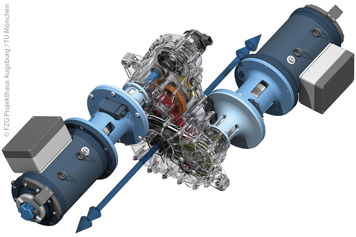 Der Antriebsstrang des Speed2E