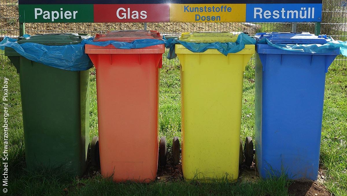 In Deutschland wird Mülltrennung und Recycling groß geschrieben.