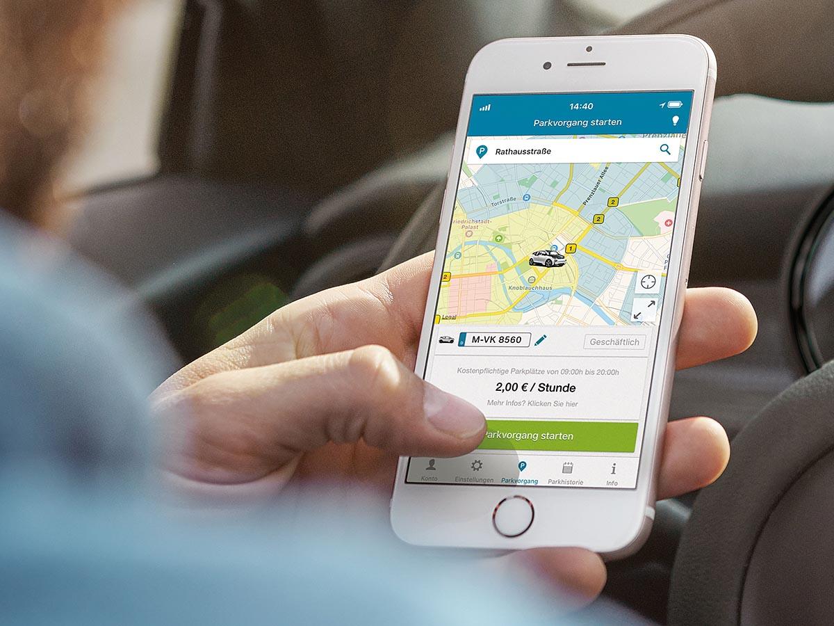 Die ParkNow-App liefert alle wichtigen Informationen.