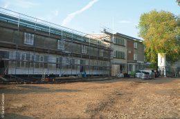 Bauphase der Uhlandschule im September 2014
