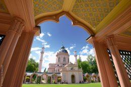 Sehenswert im Schwetzinger Schlossgarten ist unter anderem die Moschee, die Ende des 18. Jahrhunderts fertig gestellt wurde.