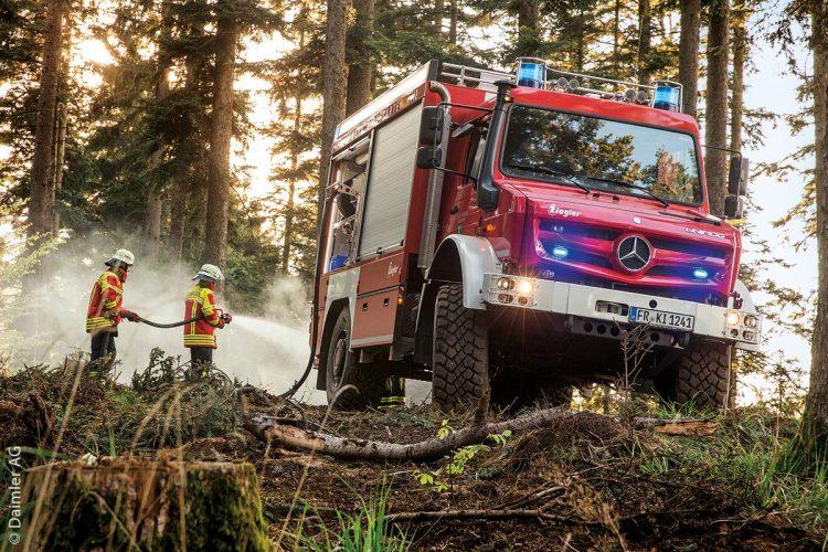 Eine Feuerwehreinheit, die seit 2017 auf den Unimog setzt, ist die Freiwillige Feuerwehr Kirchzarten im Hochschwarzwald.