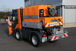 Der Solesprüher FSSA 550-15000: Der Tank bestehen aus robustem PE, das UV-beständig und schlagfest ist.