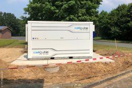 Die erste Bau- und Anschlussphase der Redox-Flow-Batterie im Bioenergiepark Saerbeck ist abgeschlossen.